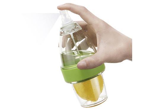 Соковыжималка для цитрусовых с пульверизатором 19x8 см со стаканом (пластик) Fissman 8617 (1)
