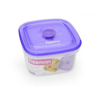 Квадратный контейнер для хранения продуктов 13x13x7,5 см / 0,65 л (пластик) Fissman 6772 - Minim