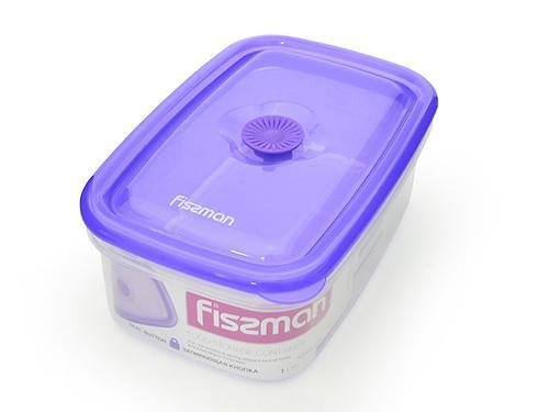 Прямоугольный контейнер для хранения продуктов 19,5x13x7,5 см / 1,0 л (пластик) Fissman 6773 (1)