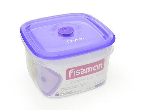 Квадратный контейнер для хранения продуктов 16x16x9,5 см / 1,5 л (пластик) Fissman 6774 (1)