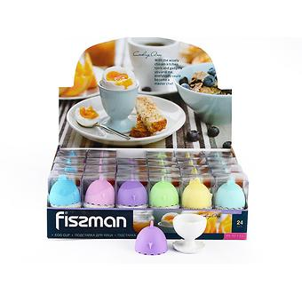Подставка для яйца 5 см с силиконовой крышкой (керамика) Fissman 7517 - Minim
