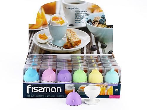 Подставка для яйца 5 см с силиконовой крышкой (керамика) Fissman 7517 (1)