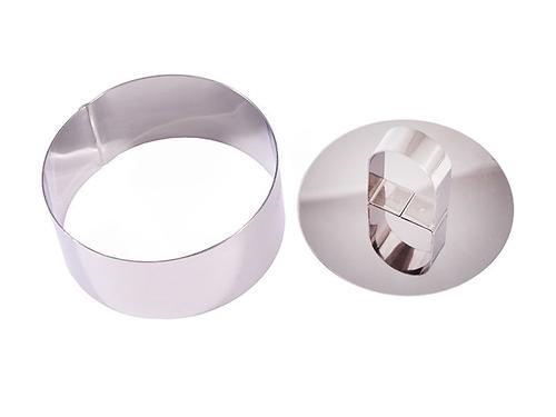 Кулинарное кольцо с прессом 10x4,5 см круглое (нерж. сталь) Fissman 7838 (1)