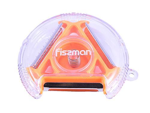 Нож для чистки овощей компактный с тремя лезвиями (нерж. сталь) Fissman 8669 (3)