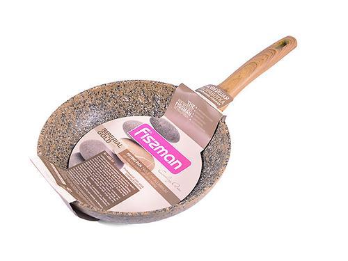 Сковорода для жарки IMPERIAL GOLD 24x5,5 см с индукционным дном (алюминий с антипригарным покрытием) Fissman 4359 (1)