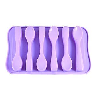 Форма для льда или шоколада Fissman 6 ячеек Ложки Лиловый (силикон) 6548 - Minim