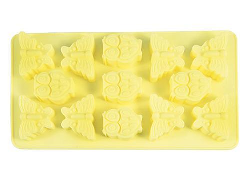 Форма для льда или шоколада Fissman 13 ячеек БАБОЧКИ И СОВЯТА 21x11,6x2 см ПАЛЕВЫЙ (силикон) 6552 (1)