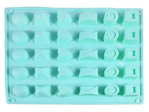 Форма для льда или шоколада Fissman 30 ячеек КОНФЕТЫ АССОРТИ 25x17x3 см АКВАМАРИН (силикон) 6555 (1)