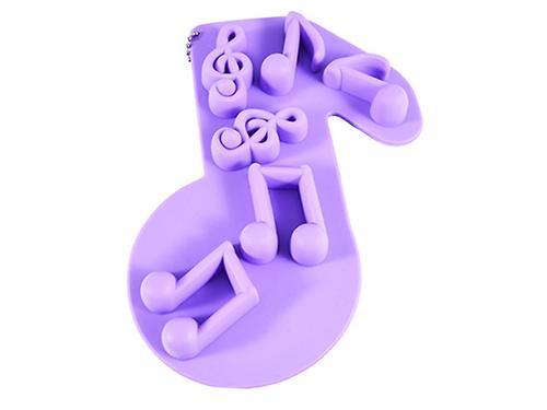 Форма для льда или шоколада Fissman 6 ячеек Мелодия Лиловый (силикон) 6559 (1)