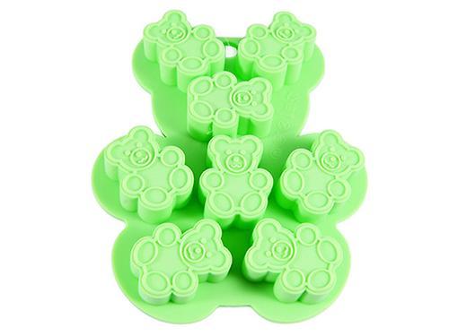 Форма для льда или шоколада 8 ячеек Fissman МЕДВЕЖАТА 13x11x1,5 см ЗЕЛЕНЫЙ ЧАЙ (силикон) 6560 (1)