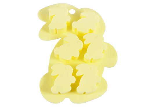 Форма для льда или шоколада 6 ячеек Fissman ЗАЙЧАТА 15x11x1,5 см ПАЛЕВЫЙ (силикон) 6561 (1)