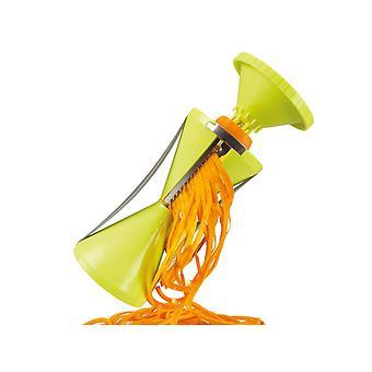 Спиральная овощерезка для декорирования блюд 17x9 см с 4 сменными лезвиями (нерж. сталь в пластиковом корпусе) Fissman 8675 - Minim
