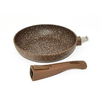 Сковорода для жарки Fissman SMOKY STONE со съемной ручкой (алюминий с антипригарным покрытием) 4370 - Minim