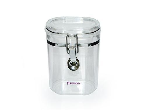 Банка для сыпучих продуктов 10x7x15 см / 0,5 л (акрил) Fissman 6788 (1)