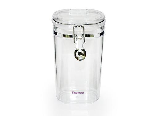 Банка для сыпучих продуктов 10x7x20 см / 0,75 л (акрил) Fissman 6789 (1)