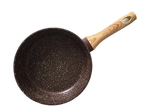 Сковорода для жарки MOSSES STONE 24x6,5 см (алюминий с антипригарным покрытием) Fissman 4296 (1)
