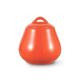 Сахарница 600 мл, цвет ОРАНЖЕВЫЙ (керамика) Fissman 9337 - Minim