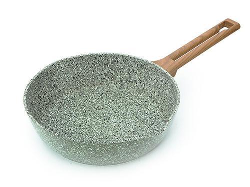 Глубокая сковорода AZURE STONE 24x6,5 см (алюминий с антипригарным покрытием) Fissman 4489 (1)