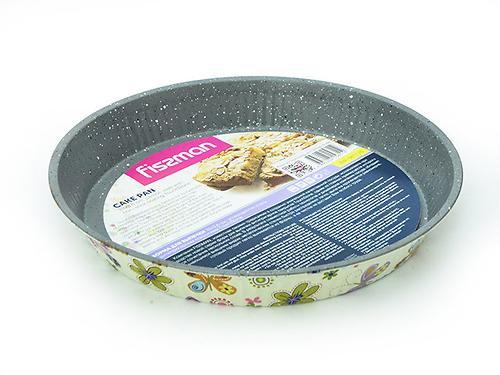 Форма для выпечки пирога круглая 28x3,6 см с узором (углеродистая сталь с антипригарным покрытием) Fissman 5611 (1)