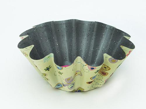 Форма для выпечки кекса 19,5x8 см с узором (углеродистая сталь с антипригарным покрытием) Fissman 5619 (1)