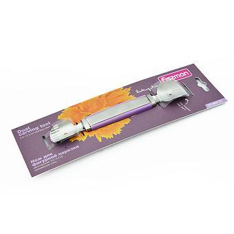 Нож для фигурной нарезки двухсторонний 3,4 / 2,4 см (нерж. сталь) Fissman 8691 - Minim