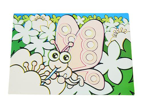Коврик для рисования водой Fissman Бабочка (пластик) 0644 (1)