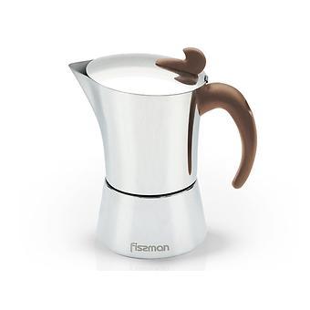 Гейзерная кофеварка на 12 порций / 900 мл (нерж. сталь) Fissman 9416 - Minim
