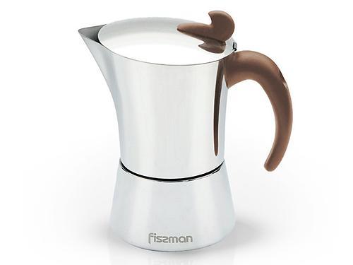 Гейзерная кофеварка на 9 порций / 540 мл (нерж. сталь) Fissman 9416 (1)