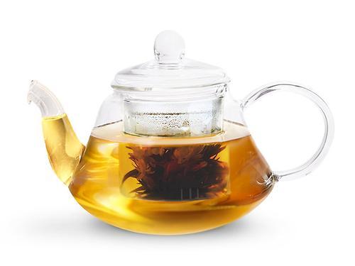 Заварочный чайник LUCKY 1000 мл со стеклянным фильтром (жаропрочное стекло) Fissman 9363 (1)