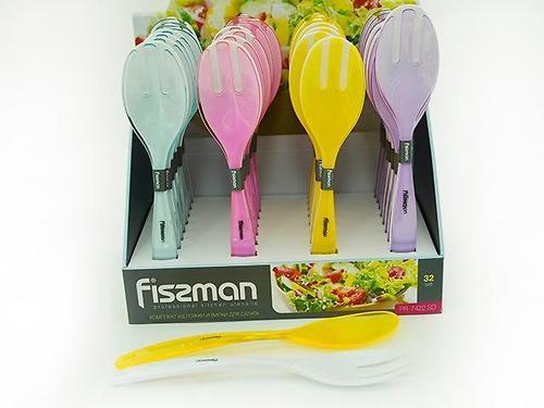 Комплект из ложки и вилки для салата (пластик) Fissman 7422 (1)