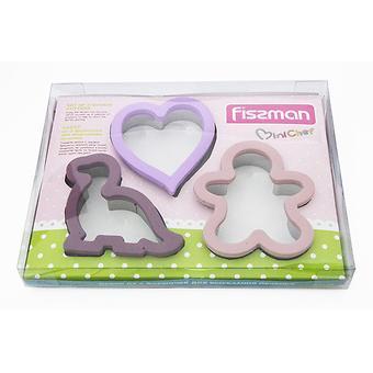 Набор из 3 формочек для вырезания печенья (силикон) Fissman 8570 - Minim
