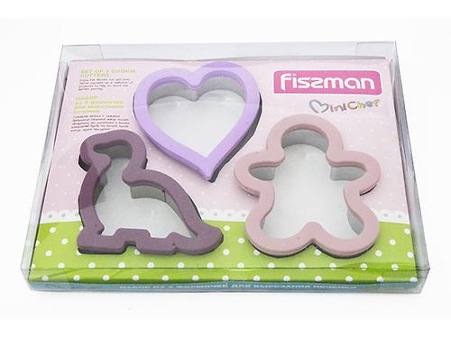 Набор из 3 формочек для вырезания печенья (силикон) Fissman 8570 (1)