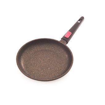 Сковорода для жарки REBUSTO 24x4,3 см со съемной ручкой (алюминий с антипригарным покрытием) Fissman 4225 - Minim
