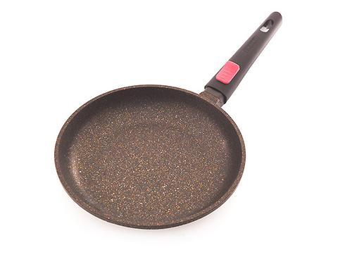 Сковорода для жарки REBUSTO 24x4,3 см со съемной ручкой (алюминий с антипригарным покрытием) Fissman 4225 (1)