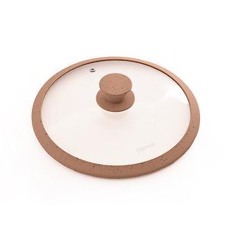 Крышка ARCADES 24 см с мраморным силиконовым ободком коричневый 9923 - Minim