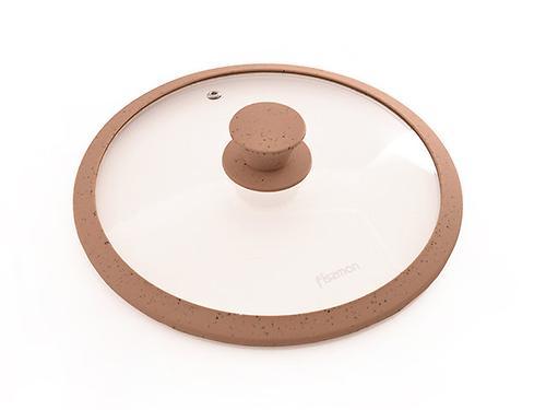 Крышка ARCADES 24 см с мраморным силиконовым ободком коричневый 9923 (1)