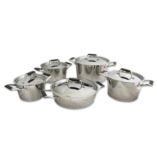Набор посуды Fissman Elara 10 предметов со стальными крышками 5823 (1)
