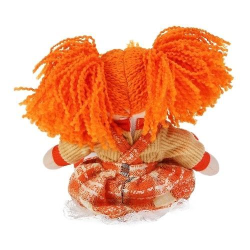 Кукла мягкая Апельсинка в клетчатом платье 30см (8)