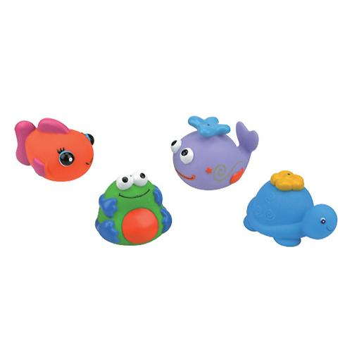 Набор для ванны из 4-х игрушек (черепашка, кит, рыбка, лягушка) (1)