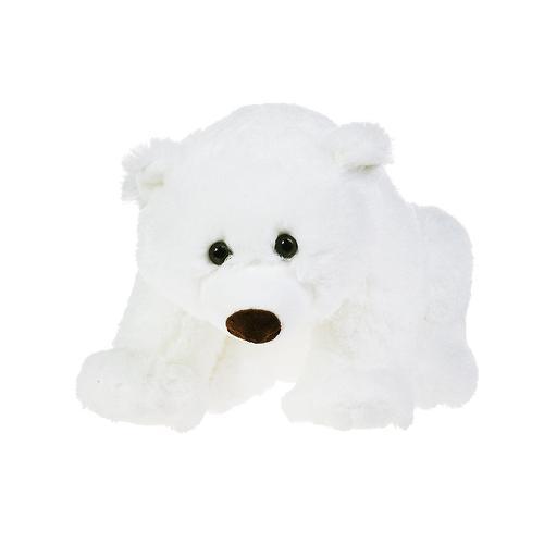 Медведь белый лежачий 43 см (6)
