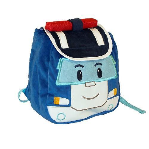 Плюшевый рюкзак Поли Робокар с крышкой (4)