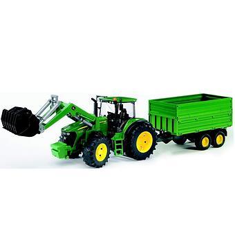 Трактор John Deere 7930 с погрузчиком и прицепом - Minim