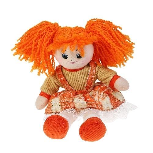 Кукла мягкая Апельсинка в клетчатом платье 30см (6)