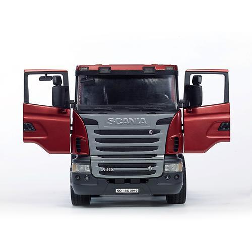 Тягач с прицепом–платформой Scania с гусеничным бульдозером CAT (подходит модуль со звуком и свето (6)