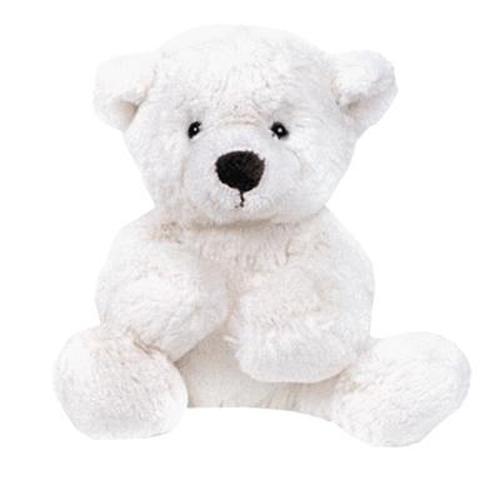 Медведь белый лежачий 23см (1)