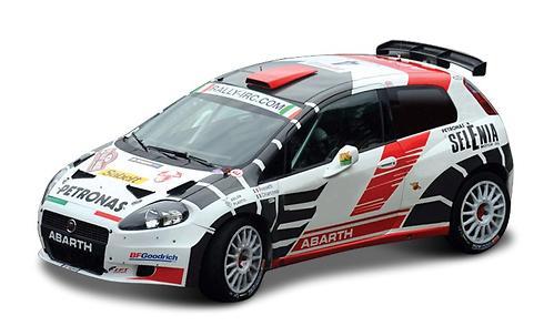 Машинка Bburago 1:43 Ралли Abatrh - Abarth Grande Punto S2000 (1)