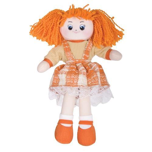 Кукла мягкая Апельсинка в клетчатом платье 30см (5)