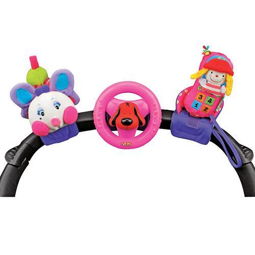 Набор развивающих игрушек для коляски: гусеничка, руль, телефон (3)