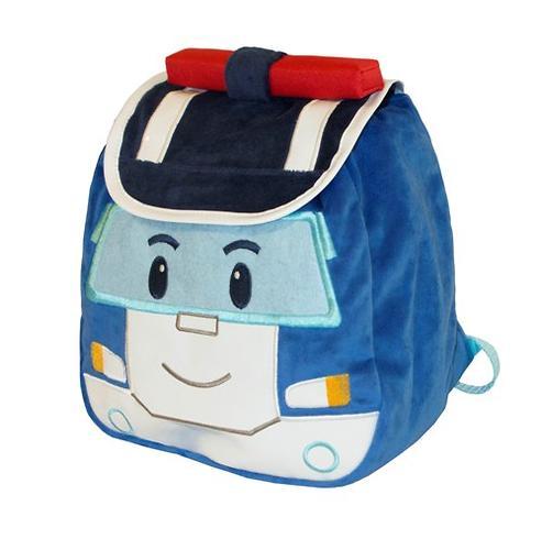 Плюшевый рюкзак Поли Робокар с крышкой (5)