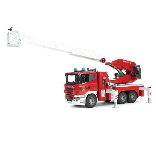 Пожарная машина Scania с выдвижной лестницей и помпой с модулем со световыми и звуковыми эффектами (7)